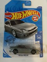 2020 Hot Wheels '98 Honda Prelude Silver w/Real Riders CUSTOM TE37 Wheels