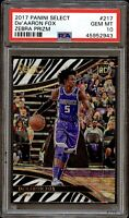 2017 Select Courtside Zebra Prizm De'aaron Fox ROOKIE RC #217 PSA 10 GEM MINT