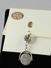 Fossil Brand Stainless I Love You Spinning Disc Necklace Bracelet Charm JF02273