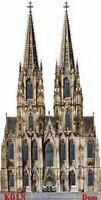 Köln Dom Cologne 11 cm Holz Souvenir Magnet,Germany Deutschland,Neu .
