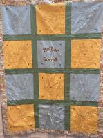 "Vintage Handmade Stiched Baby Quilt Crib Blanket Nursery Rhymes 38"" X 48"" MCM"