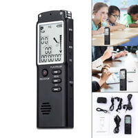 8/16/32GB Digital Voice Recorder Rechargeable Audio Sound Dictaphone MP3 Player