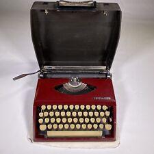 vintage TRIUMPH tippa S CURSIVE typewriter BURGUNDY portable  working HOLLAND