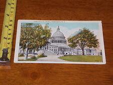 Postcard Vintage Vista Of Us Capitol Washington Dc 1923