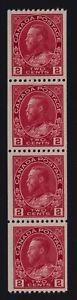 Canada Sc #132iii (1915-24) 2c rose carmine Admiral Coil Strip Mint XF NH