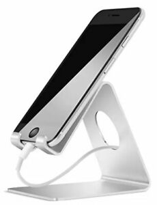Cell Phone Stand Lamicall Phone Stand Cradle Dock Holder Silver Color