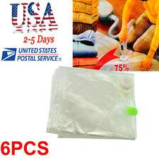 6pcs Small Space Saver Bag Storage Bag Vacuum Seal Compressed Organizer Portable