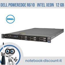 DELL POWEREDGE R610  2x Intel Xeon E5504  12gb RAM DDR3  NO HDD SERVER
