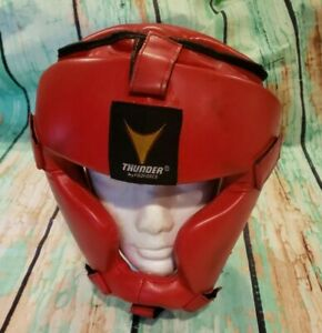 Thunder Martial Arts Headgear Boxing Sparring Red Size L/XL  84054