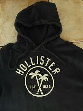 Mens Designer HOLLISTER Navy Hoodie Hooded Sweatshirt Jumper M