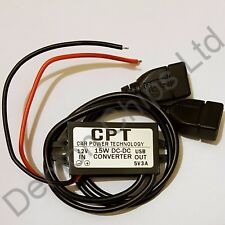12V to 5V 3A Dual USB Power Adaptor DC Converter Connector Car Charger UK SELLER