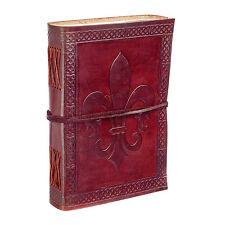 Fair Trade Handmade Fleur de Lis Leather Journal 2nd Quality