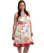 NEW..Stylish Plus Size Pretty Floral Print Fully Lined Dress..SZ16/2XL