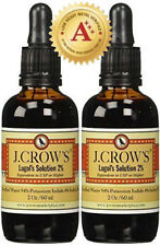 J.CROW'S® Lugol's Solution of Iodine 2% 2 oz Twin Pack (2 bottles)