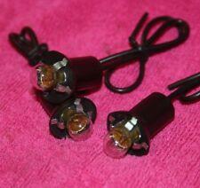 (3) Sun Gauge & Tachometer Light Lighting Kit Bulb & Socket Blueline Greenline
