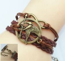 New Mens Fashion Brown Leather Friendship Infinity Charm Cuff Bracelet Jewelry