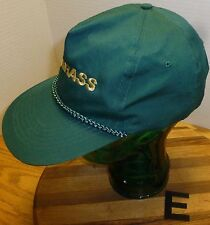 """PRO GRASS"" HAT. GREEN WITH EMBROIDERED LETTERING. SNAPBACK ADJUSTABLE. VGC!!"