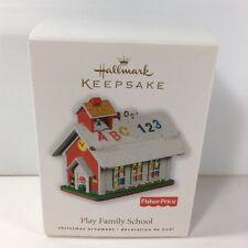 2010 HALLMARK ORNAMENT FISHER PRICE PLAY FAMILY SCHOOL HOUSE- W/ BOX