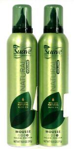 2 Suave Professionals 100% Natural Olive Oil Volume Mouse Salon Proven Beauty