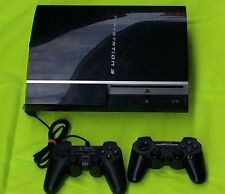 Sony PlayStation 3 40 GB Piano Black + Extras (2x Controller + 1 Spiel)