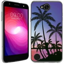 for LG X Charge 2 (Sunset by the Sea)Clear TPU gel skin phone case cover