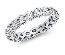 VS 1.42ct Round Brilliant Cut Diamond Eternity Ring,950 Platinum ,IGL Certified