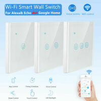 1/2/3/4 Gang Smart Home WiFi UK Panel Touch Wall Light APP Remote Control Switch
