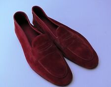 Edward Green Polperro Coral Suede Size 7.5 Leather Men's Shoes