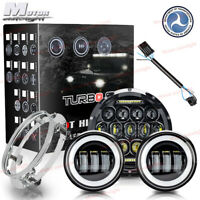 """7"""" LED Projector Headlight Passing Lights Fit Harley Electra Glide Ultra Classic"""