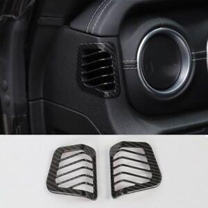 For 2018 Jeep Wrangler JL Carbon Fiber Dashboard Side Air Outlet Vent Cover Trim