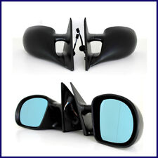 M3 STYLE POWER SIDE MIRROR MIRRORS METAL BASE BMW E36 COUPE CONVERTIBLE PAIR SET