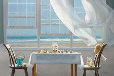 SEASCAPE OCEAN ART PRINT The Shell Collectors Karen Hollingsworth Coastal Poster