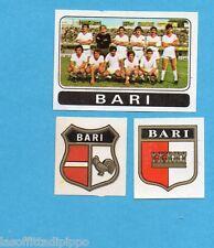 FIGURINA PANINI 1972/73-n.387- BARI - SQUADRA+SCUDETTO+STEMMA-Rec