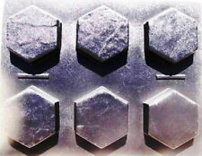 """6 HEXAGON DRIVEWAY PAVER & PATIO MOLDS MAKE 100s OF 9x9""""x2.5"""" PAVERS FOR PENNIES"""