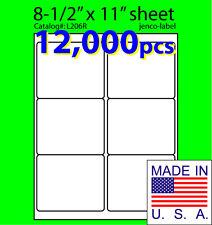 L206R, 12,000 Mailing Shipping/Laser InkJet Label,4x3-1/3