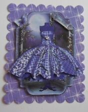 PK 2 3D PURPLE DRESS EMBELLISHMENT TOPPERS FOR CARDS AND CRAFTS