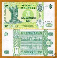 Moldova, 20 Lei, 2006, ex-USSR, P-13-New, UNC