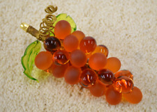 Murano Glass Grape Cluster, Large, Amber
