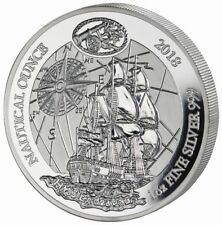50 FRW Ruanda Silber / Silver Nautical Ounce HMS Endeavour 2018 1 OZ PP / Proof