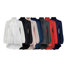 Classic Pussy Bow Tie Neck Blouse Shirt Top or Dress Many Colours BNWT 8 - 20
