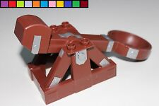 Lego Duplo - Katapult Schleuder Steinschleuder - braun - Ritterburg