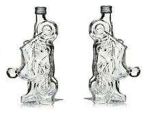 2x Botella de Vidrio 350 Ml Moto Motocicleta Bicicleta almacenamiento Ornamento de longitud 9 in (approx. 22.86 cm)
