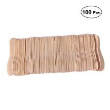 100PCS  Wood Wooden Popsicle Bowtie Ice Cream Gelato Mini Taster Tasting Spoons