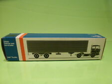 LION CAR 59 DAF TRUCKS 2800 EUROTRAILER - 1:50 GOOD - * ONLY EMPTY BOX * (16)
