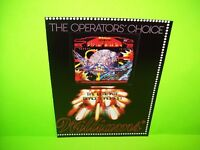 Williams FIREPOWER Original 1980 Pinball Machine Promo Flyer Space Age Artwork
