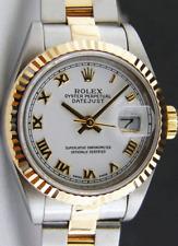 ROLEX 26mm 18kt Gold & SS Ladies DateJust White Roman Dial 69173 SANT BLANC