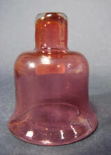 Öllampenbehälter, 19.Jh. Farbloses Glas rubinrot unterfangen.