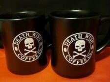 "New listing 2 Death Wish Coffee Co Black Mugs ""I run entirely on Caffeine.& Party No Pants"