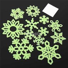 Grow Christmas Sticker Fluorescent Wall Window Snowflake Sticker Home Decor