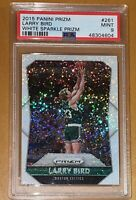 SP /20💎2015 Larry Bird PANINI WHITE SPARKLE PRIZM REFRACTOR #261 PSA 9 BGS gold